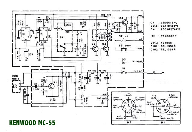 icom hm 103 schematic diagram icom mic pin outs   elsavadorla 4 Pin Microphone Wiring Diagrams A 4 Wire Microphone Wiring